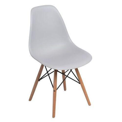 Krzesło p016w pp light grey, drewniane nogi marki Dkwadrat