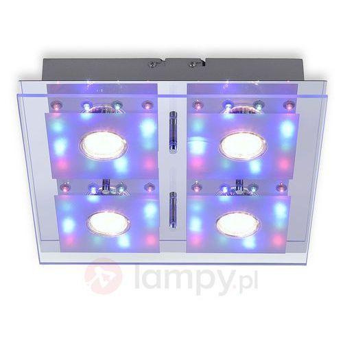 Leuchten Direkt STEFAN Lampa Sufitowa LED Chrom, 4-punktowe - Nowoczesny - Obszar wewnętrzny - STEFAN - Czas dostawy: od 2-4 dni roboczych