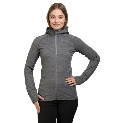 Bluza damska quantum ls zip hood women - gritstone hthr, Icebreaker, 34-36