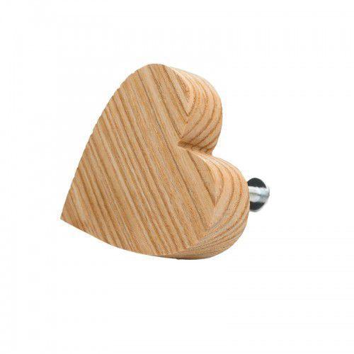 Premium gałka do mebli serduszko drewniane marki Home-idea