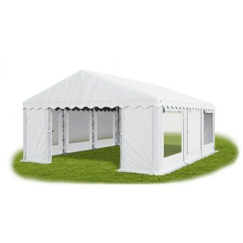 5x6x2m, całoroczny namiot cateringowy, okna z moskitierą rolowane do góry mocna konstrukcja, winter/pe - 30m2 marki Das company