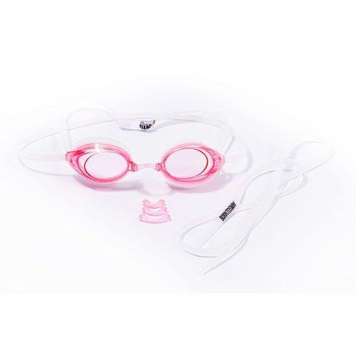 okulary pływackie racer comfort - pink marki Born to swim