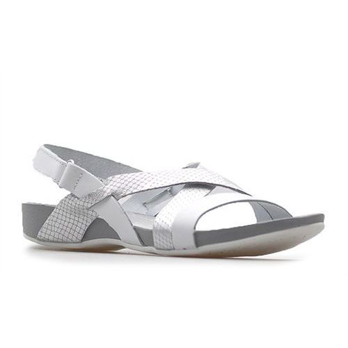 Sandały 40032 białe+moro srebro, Lemar
