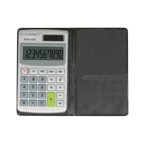Kalkulator 10-cyfrowy, 73x118mm, etui, szary marki Q-connect