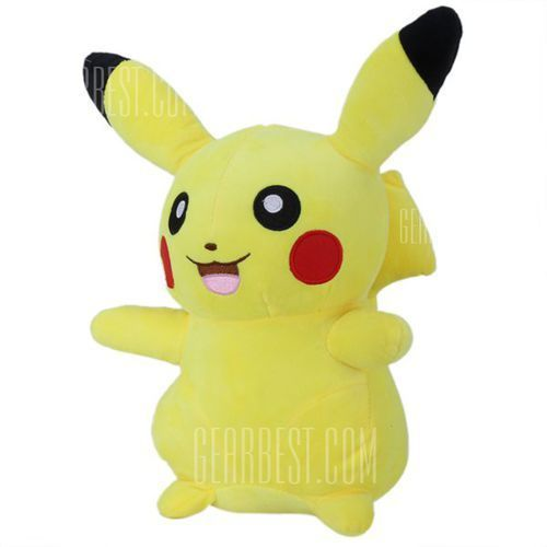 28cm Height Anime Opening Mouth Smiling Pokemon Pikachu Plush Doll Plush Toys ()