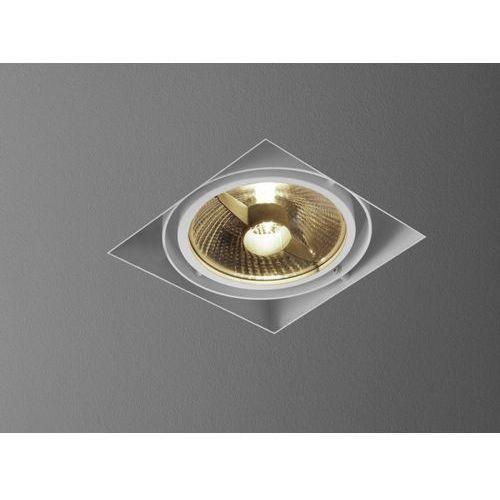 Aquaform Oczko squares 111x1 trimless 230v białe szybka realizacja, 37511-0000-u8-ph-03