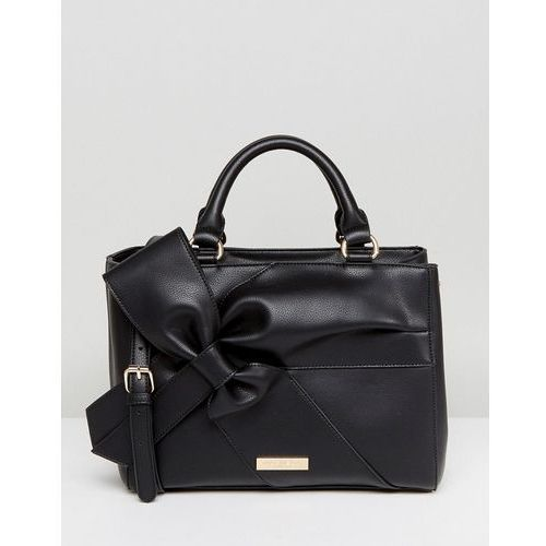 Carvela Rhian Tote Bag With Oversized Bow Detail - Black, kolor czarny