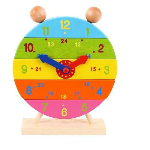 Bigjigs toys zegar warstwowy - pionowa układanka bj659