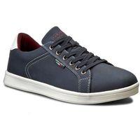 Sneakersy - mp07-16901-02 granatowy, Gino lanetti, 40-44