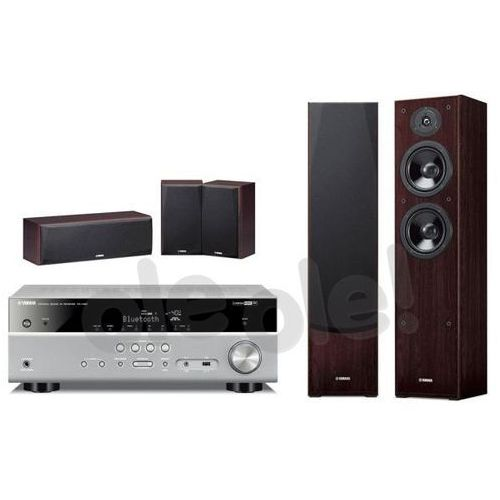 Yamaha MusicCast RX-V481 (tytanowy), NS-F51/NS-P51 (orzech) - produkt w magazynie - szybka wysyłka! (0000001081500)