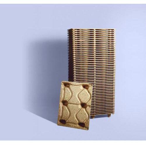 Paleta Display z prasowanego drewna, dł. x szer. 800x600 mm, z 6 nóżkami, nośnoś