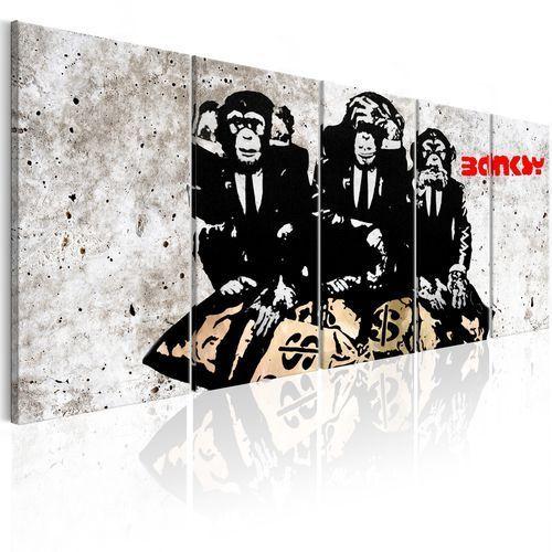 Obraz - banksy: trzy małpy marki Artgeist