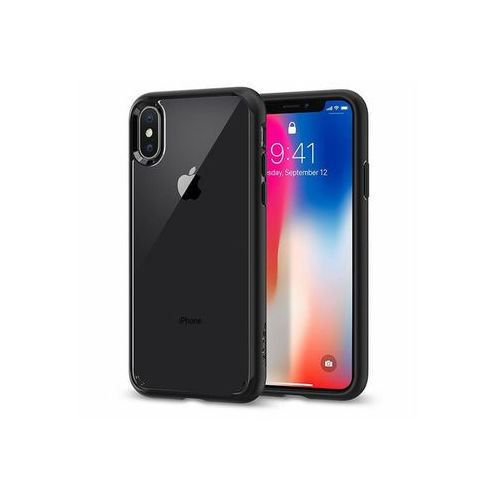 Apple iphone x - etui na telefon ultra hybrid - matte black marki Spigen