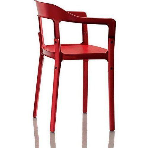Krzesło Steelwood nogi i siedzisko czerwone oparcie czerwone, sd740-5083