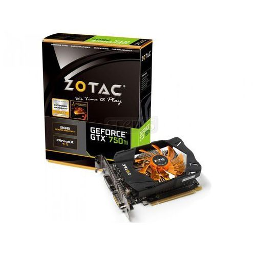 Karta graficzna Zotac GeForce® GTX 750 Ti, 2GB DDR5 (128 Bit), miniHDMI, 2xDVI - ZT-70601-10M