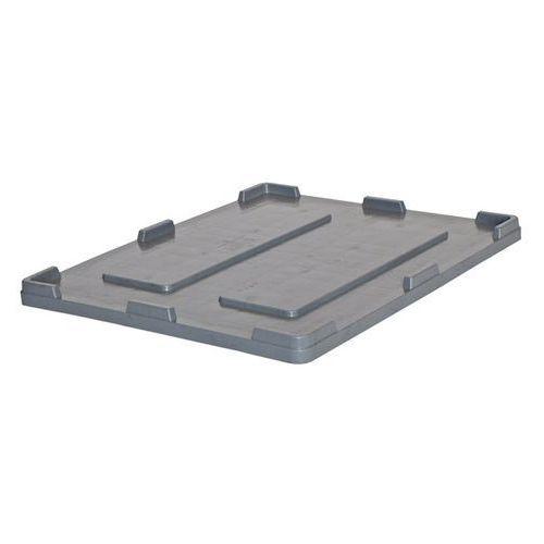 Pokrywa, do pojemników 610 l, dł. x szer. 1200x1000 mm. marki Capp-plast