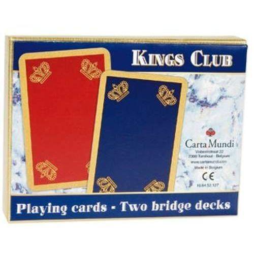 KINGS CLUB - komplet brydżowy 2x55 kart