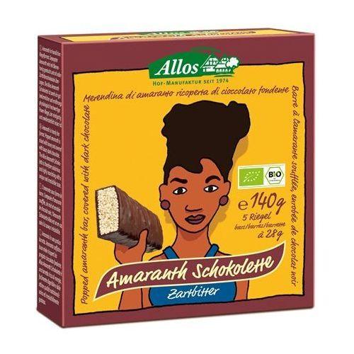 Baton Amarantusowy w gorzkiej czekoladzie BIO 140g (5 sztuk) (Allos), kup u jednego z partnerów