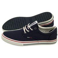 Tommy hilfiger Tenisówki tommy jeans textile sneaker em0em00001 006/ink (th5-b)