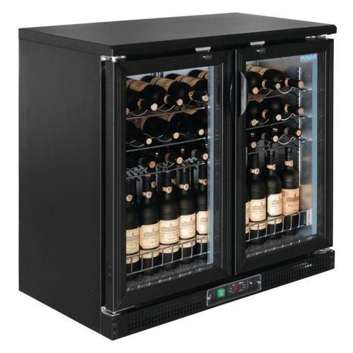 Polar refrigeration Chłodziarka na wino z drzwiami na zawiasach | 254l | 920x530x(h)920mm