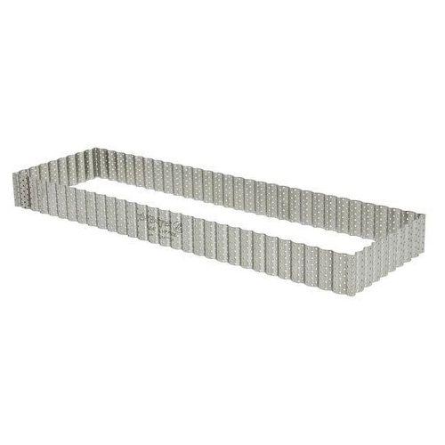 Rant piekarniczo-cukierniczy prostokątny perforowany - 35x10 cm marki De buyer