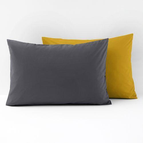 La redoute interieurs Dwukolorowa poszewka na poduszkę, z perkalu, bawełna