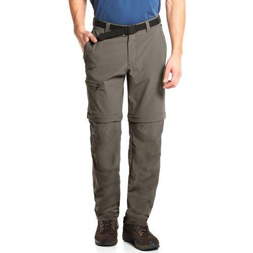 tajo 2 spodnie długie mężczyźni brązowy 54-krótkie 2018 spodnie z odpinanymi nogawkami, Maier sports