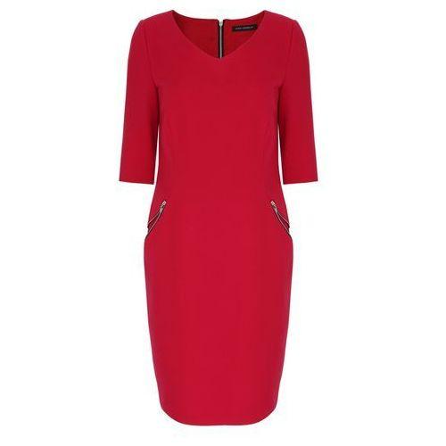 Sukienka 6628 (Rozmiar: 40, Kolor: czerwony)