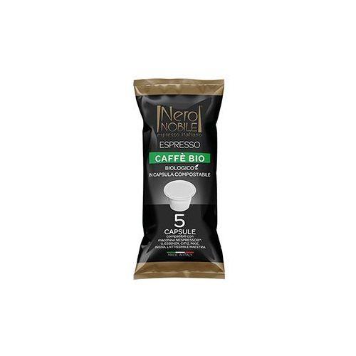 Kapsułki do nespresso* caffe bio 5 kapsułek - do 12% rabatu przy większych zakupach oraz darmowa dostawa marki Nero nobile