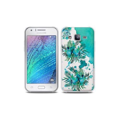 Samsung Galaxy J5 - etui na telefon Full Body Slim Fantastic - turkusowa orchidea