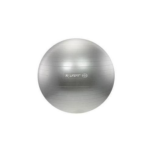 Piłka gimnastyczna anti-burst 55 cm srebrny marki Lifefit
