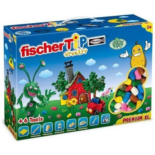 Fischer TiP Premium Box XL do kreatywnych zabaw dla dzieci, chrupki kukurydziane do zabawy