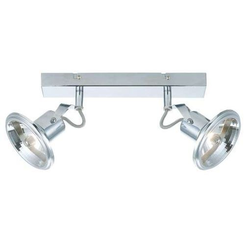 Plafon LAMPA sufitowa FELTRE LP-725/2W Light Prestige metalowa OPRAWA ścienna LISTWA minimalistyczna kinkiet chrom, kolor Srebrny
