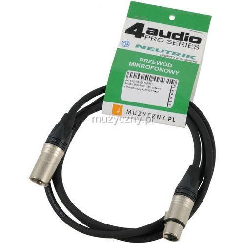 mic pro 1,5m przewód mikrofonowy xlr-f - xlr-m neutrik od producenta 4audio