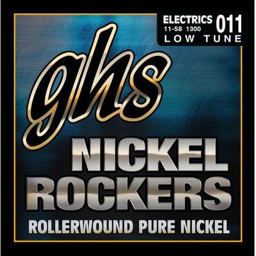 Ghs nickel rockers struny do gitary elektrycznej, lo-tune,.011-.058, rollerwound