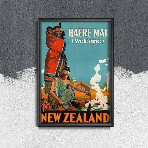 Plakat vintage plakat vintage nowa zelandia marki Vintageposteria.pl