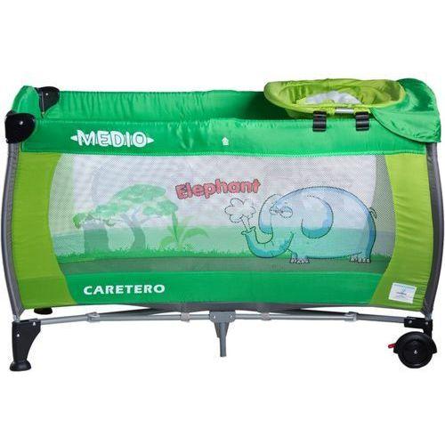 Łóżeczko turystyczne  safari elephant zielony + darmowy transport! od producenta Caretero