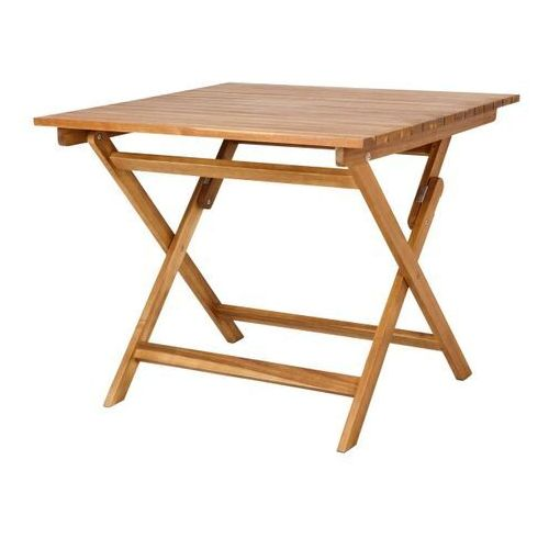 Stół składany denia kwadratowy 90 x 90 x 75 cm marki Goodhome