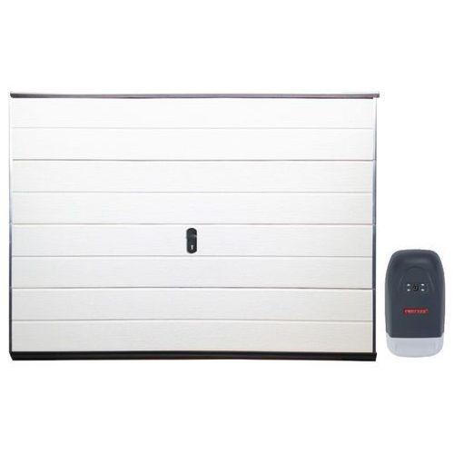 Vente-unique Zestaw brama garażowa segmentowa gładka balido + napęd impact ii