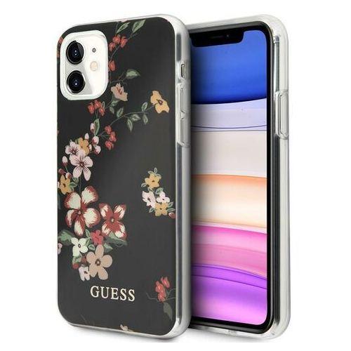 Guess Flower Shiny Collection N4 etui na iPhone 11 (Black), kolor czarny
