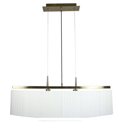 Lampa wisząca Candellux Berg 2x40W E14 patyna + biały abażur 32-45171 (5906714845171)