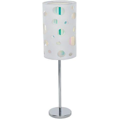 Lampa stołowa moneda 95735 lampka oprawa 1x60w e27 biała marki Eglo