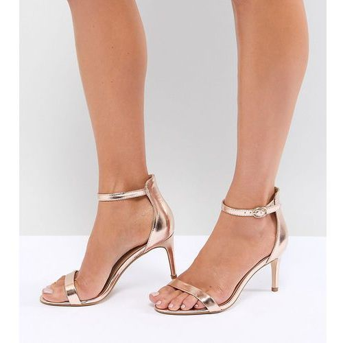 mid barely there heeled sandals - beige marki Truffle collection