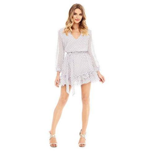 Sukienka Scilla biała w groszki