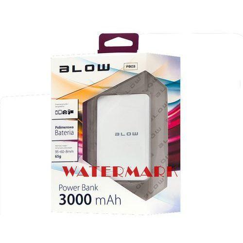 BLOW Power Bank 3000mAh 1xUSB PB03 BIAŁY