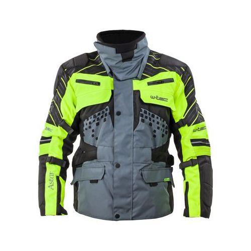 Trójwarstwowa kurtka motocyklowa W-TEC Astair wodoodporna, Czarno-szaro-zielony, M, 1 rozmiar