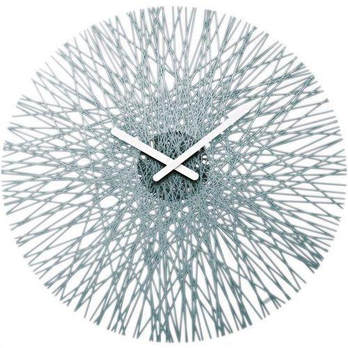 Zegar ścienny antracytowy Silk, kolor szary