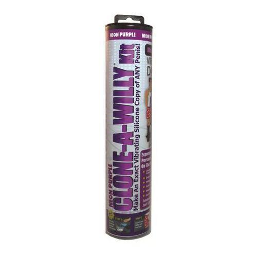 Zestaw do klonowania penisa wibrujący fioletowy - kit neon purple marki Clone a willy