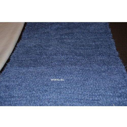 Spółdzielnia twórców ludowych Chodnik bawełniany ręcznie tkany, ciemno-niebieski 65x120 cm (k-62)
