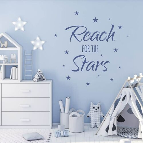 Szablon na ścianę Reach for the stars 2505